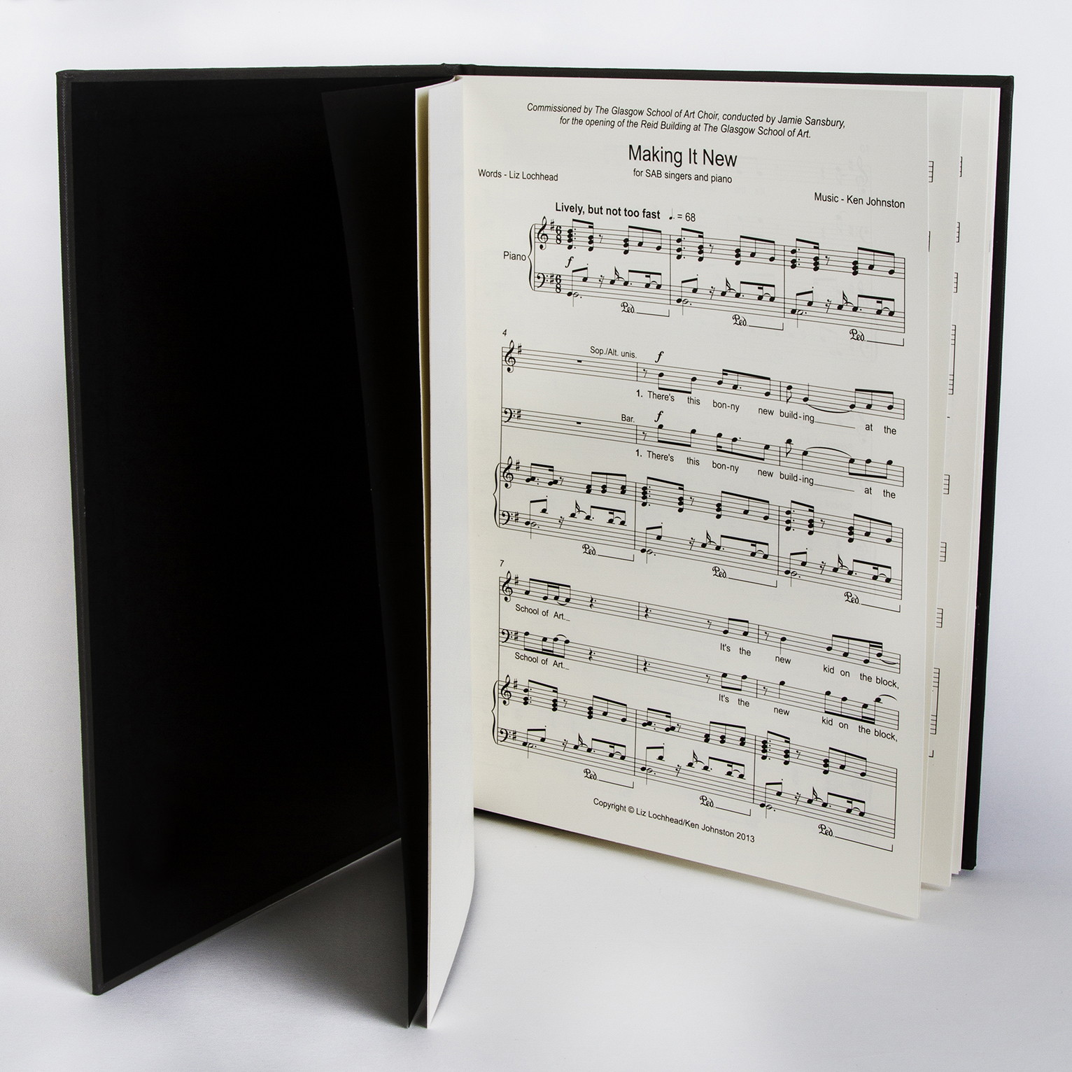 'Making It New' commemorative score