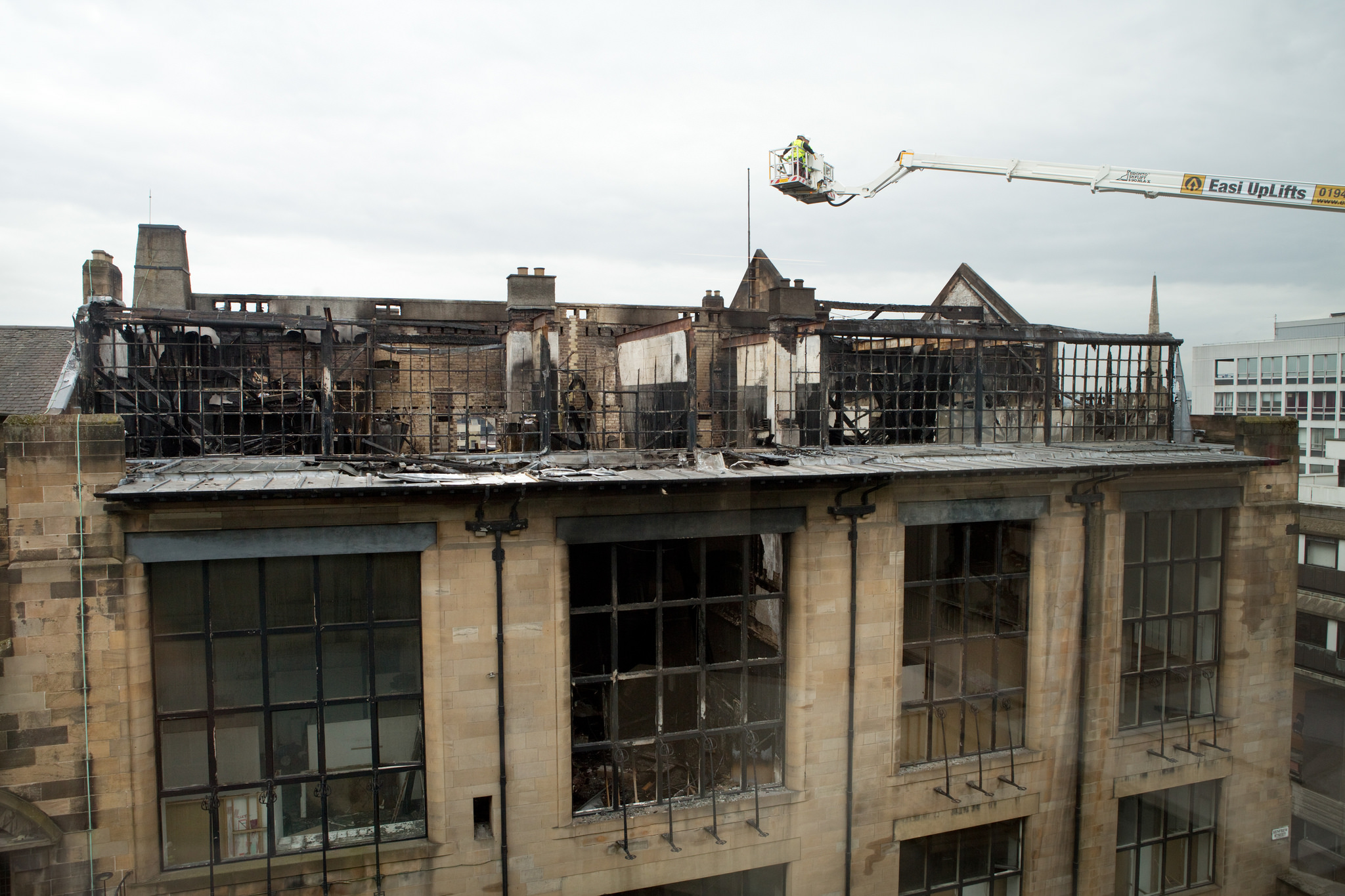 The Mackintosh Building at The Glasgow School of Art, which was damaged by fire in May 2014. Photo by Alan McAteer.
