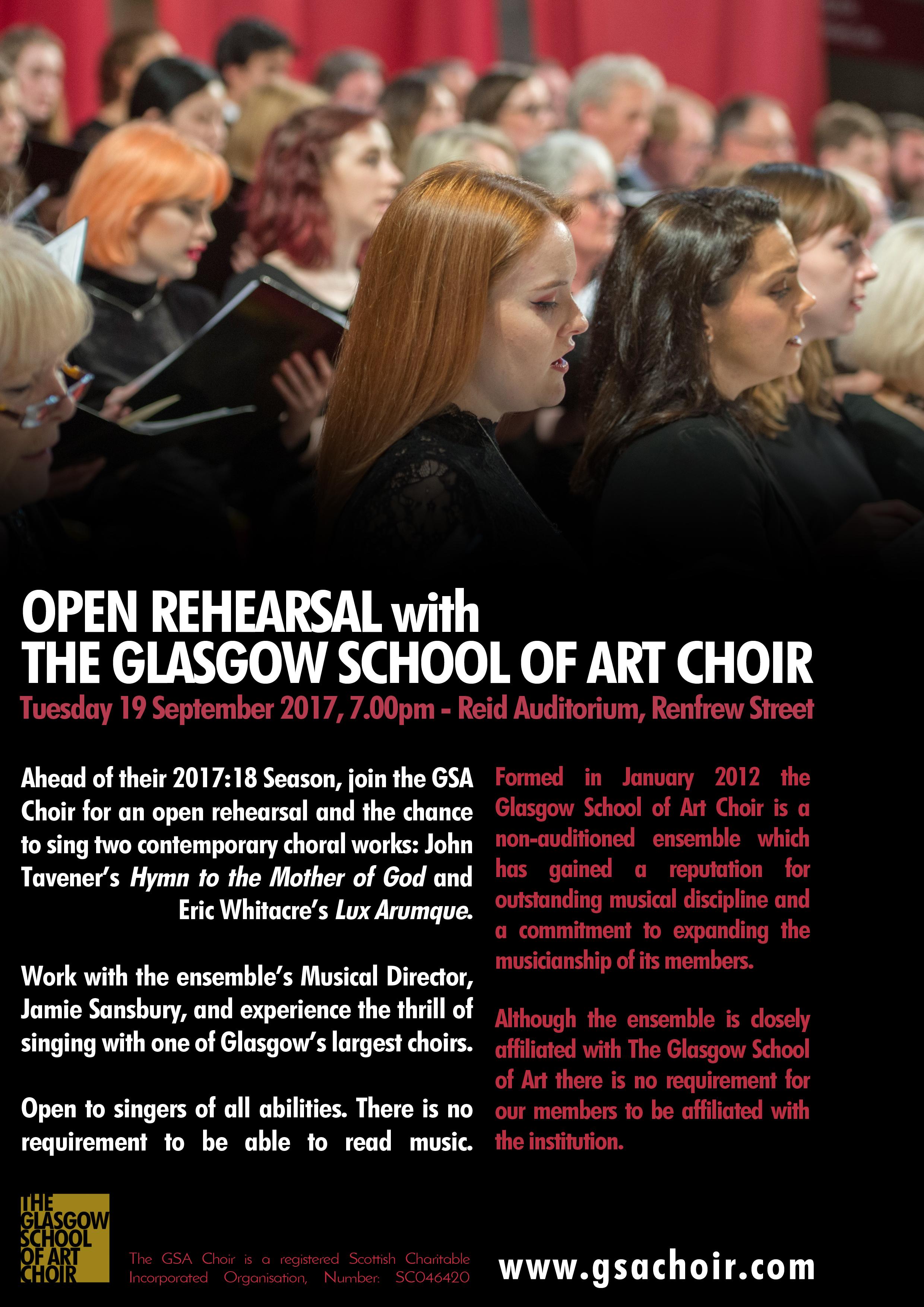Open rehearsal flyer